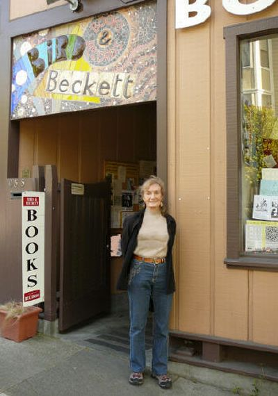 Bird and Beckett Bookstore, San Francisco 2010, Erika Grundmann outside