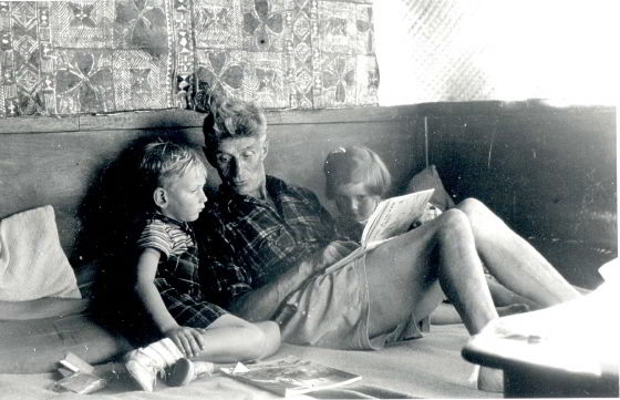 George Dibbern reading to children