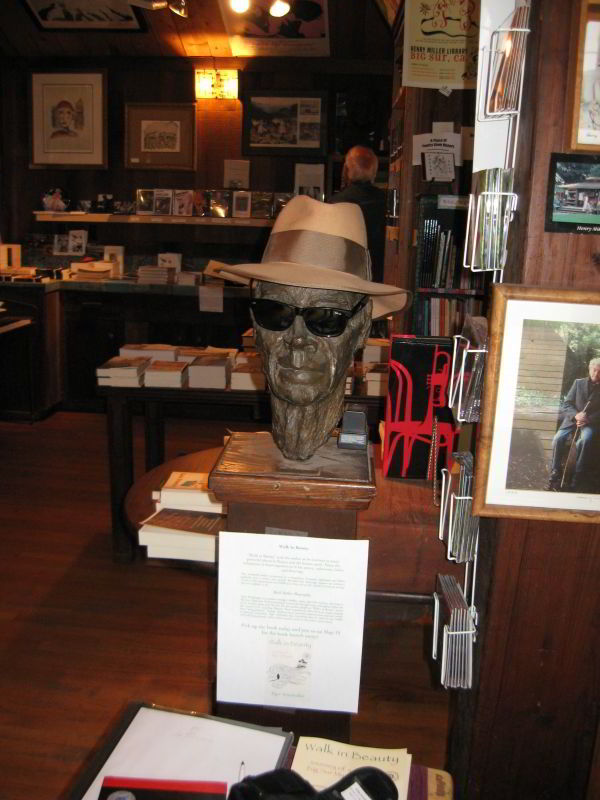 Henry Miller Memorial Library, head bust