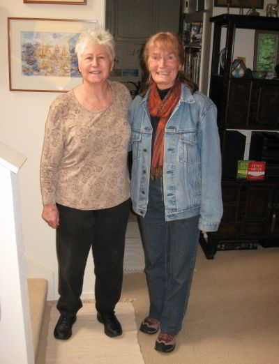Henry Miller's daughter Valentine with Erika Grundmann in Salinas