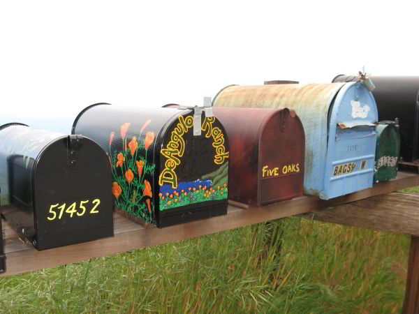 Partington Ridge mailboxes