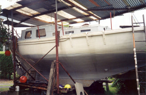 1998 – Te Rapunga in Barry Cawson's yard, Auckland NZ (owner 1976-~2001)