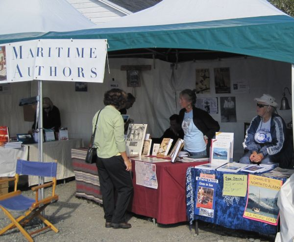 Wooden Boat Festival Port Townsend, 2010 - authors tent
