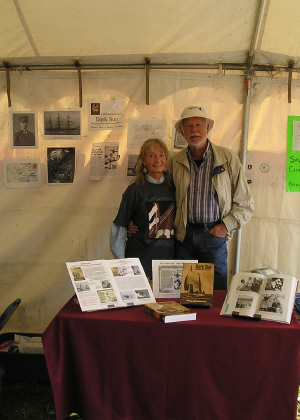 Walter and Erika, selling Dark Sun at Wooden Boat Festival Port Townsend, 2006