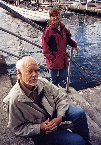 Walter and Erika, research trip, Hobart, Tasmania, 1998