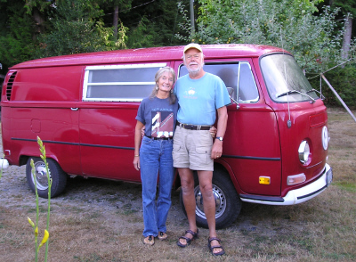 Walter and Erika, Returned home after Wooden Boat Festival Port Townsend, 2006